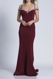 Dave and Johnny Classic Beaded Gown - Product Mini Image