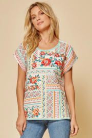 Savanna Jane Classic Beauty Embroidered Top - Side cropped