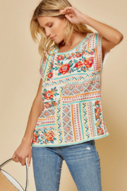 Savanna Jane Classic Beauty Embroidered Top - Front full body
