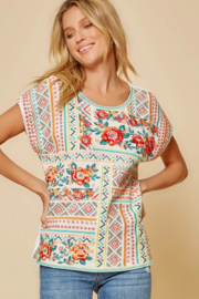 Savanna Jane Classic Beauty Embroidered Top - Front cropped