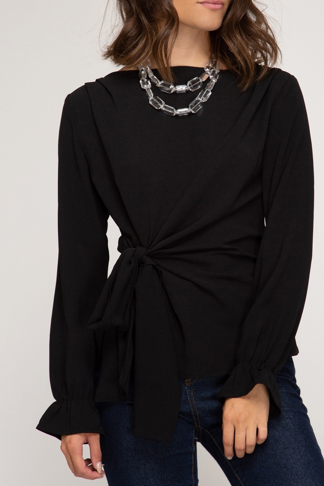 She + Sky Classic Beauty Top - Front Cropped Image