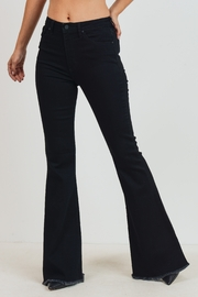Just Black Denim Classic Bell Bottom - Front cropped
