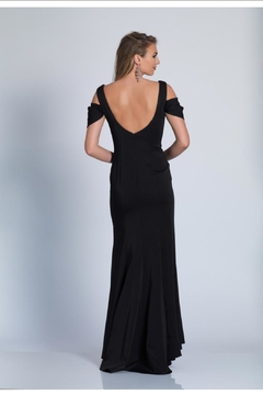 Dave and Johnny Classic Black Gown - Alternate List Image