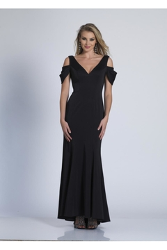Dave and Johnny Classic Black Gown - Product List Image