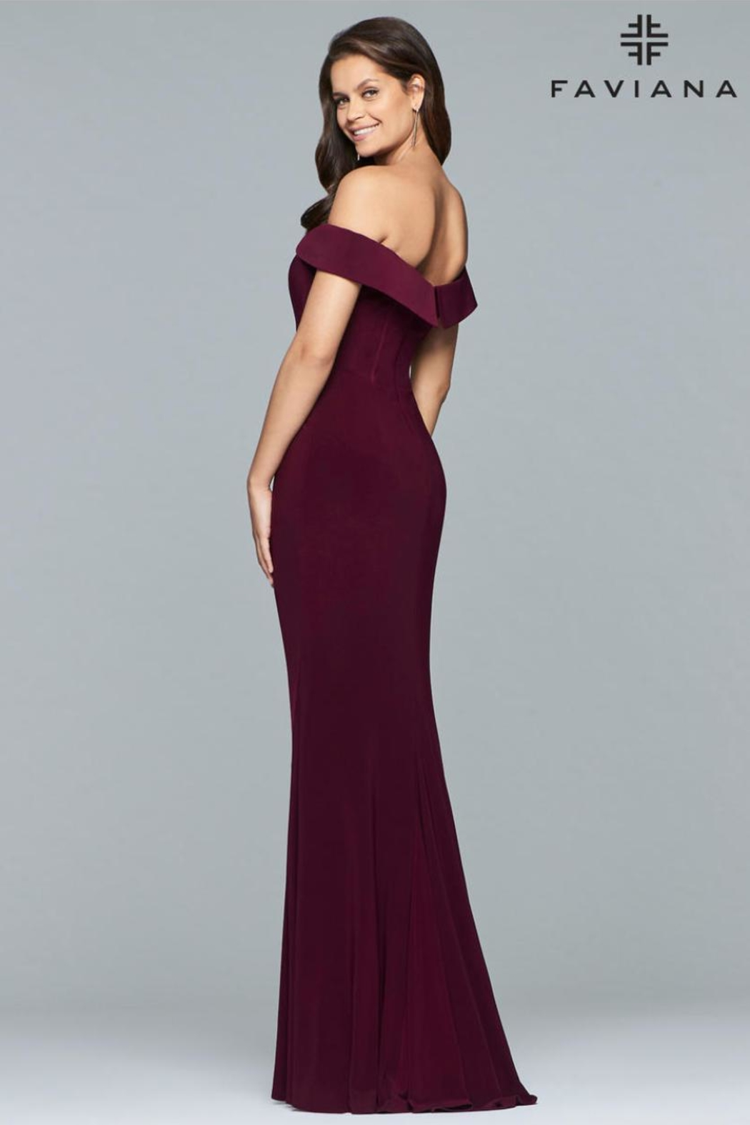 Faviana Classic Black Gown - Front Full Image