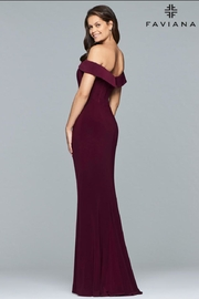 Faviana Classic Black Gown - Front full body