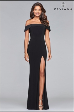Faviana Classic Black Gown - Product List Image