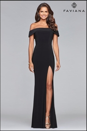 Faviana Classic Black Gown - Product Mini Image