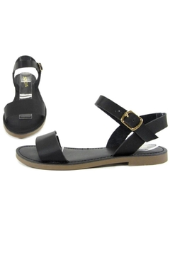 Soda Classic Black Sandals - Product List Image