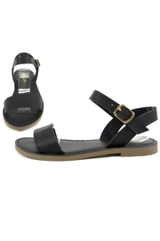 Soda Classic Black Sandals - Front cropped
