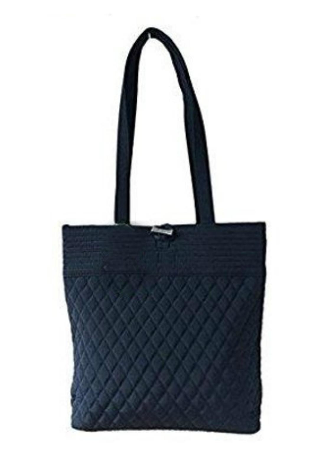Vera Bradley Classic Black Tote - Front Cropped Image