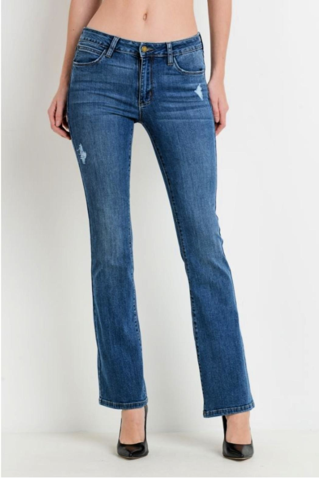 Just USA Classic Bootcut Jeans - Front Full Image