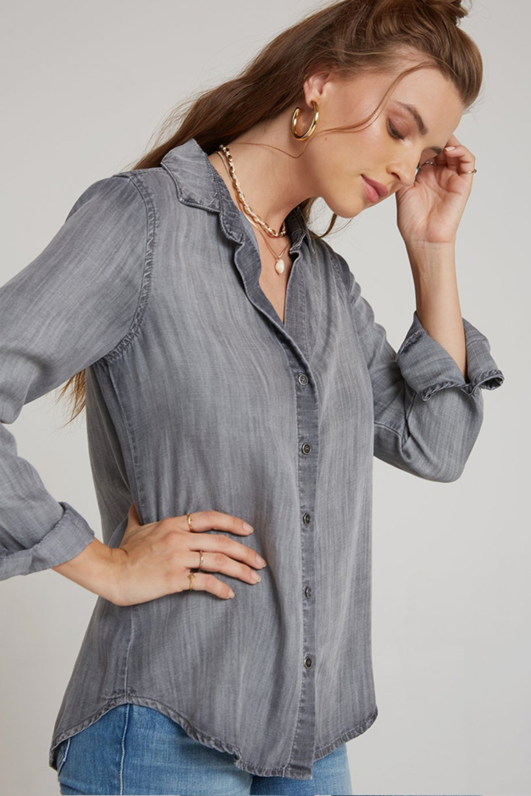 Bella Dahl  CLASSIC BUTTON DOWN - Front Full Image