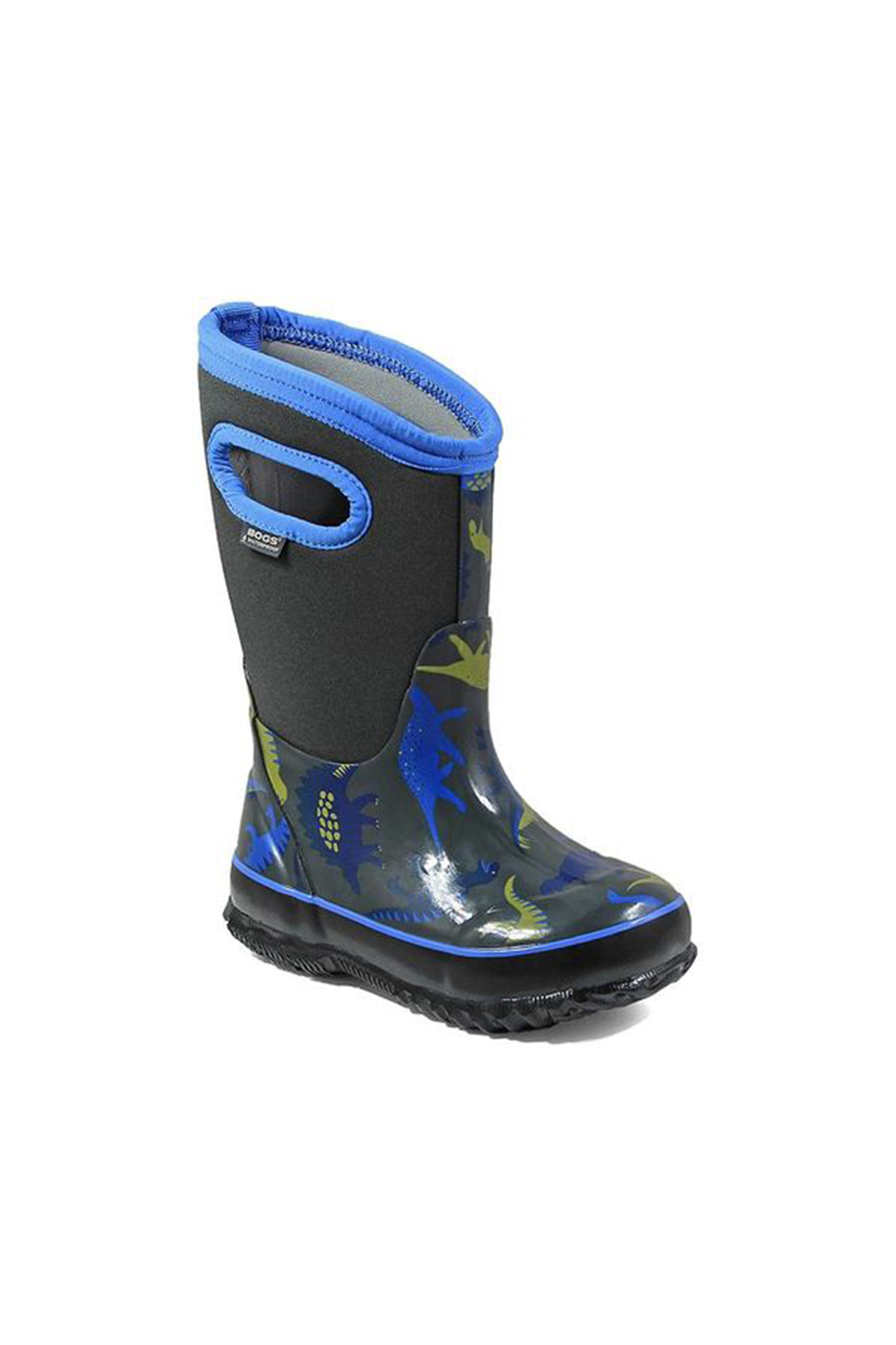 BOGS Classic Dinosaur Kids Insulated Boots - Front Full Image