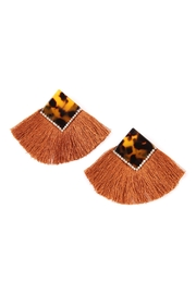 Riah Fashion Classic-Fan Tassel Earrings - Product Mini Image