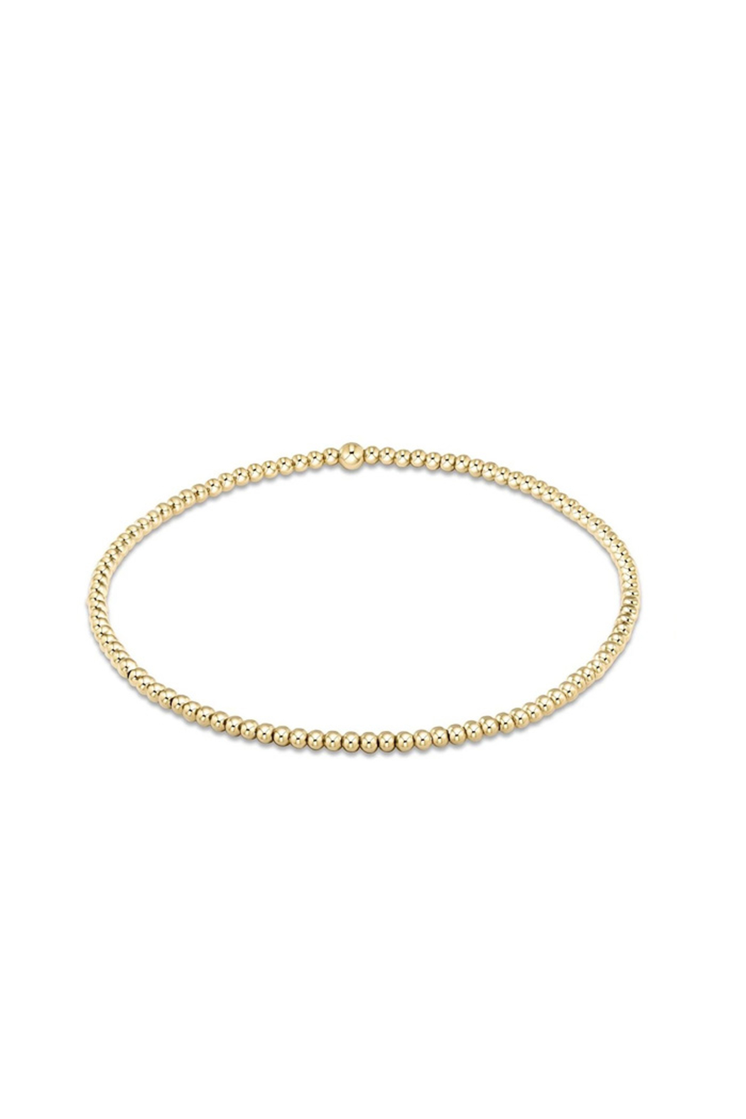 enewton designs Classic Gold 2mm Bead Bracelet - Front Cropped Image