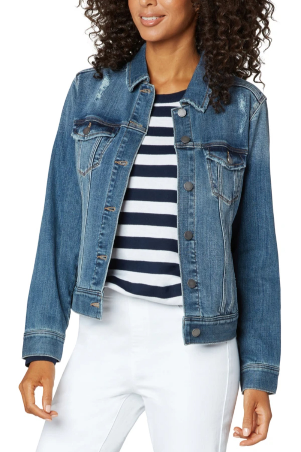 Liverpool  Classic Jean Jacket - Front Cropped Image