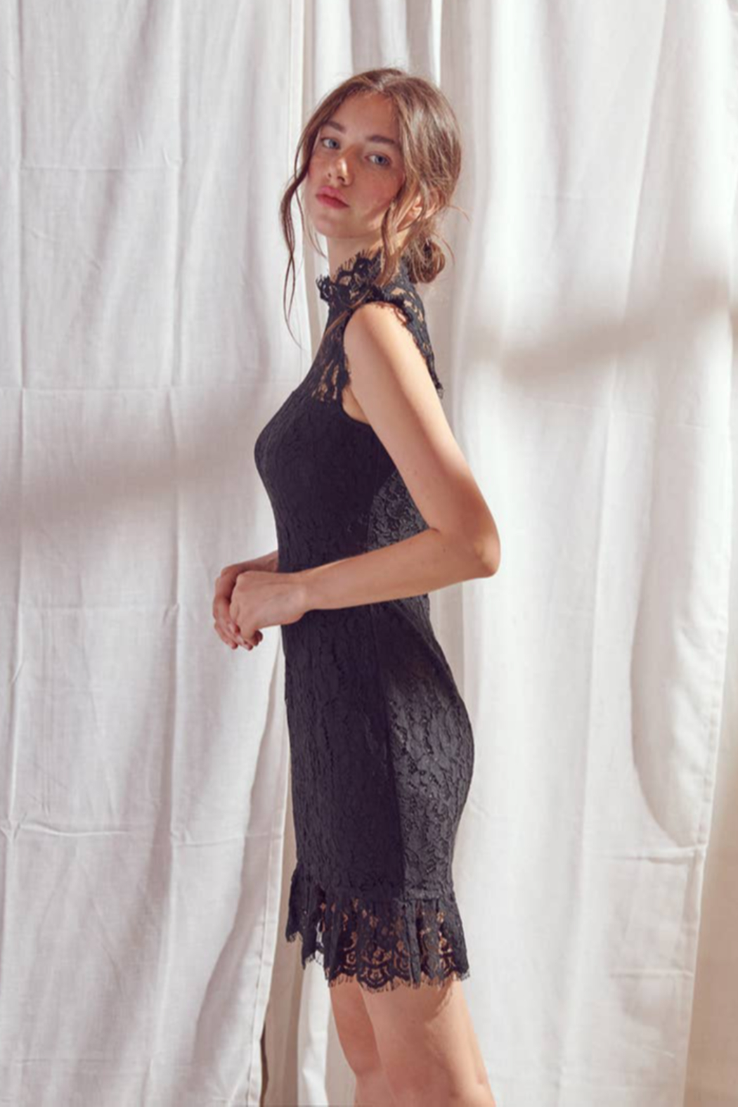 Storia  Classic Lace Dress - Front Full Image