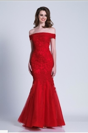 Dave and Johnny Classic Lace Dress - Product Mini Image