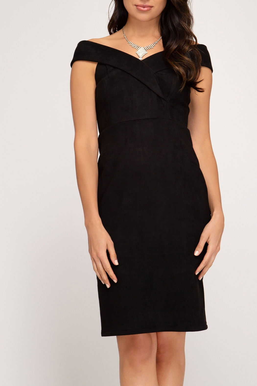 She + Sky Classic Midi Dress - Front Cropped Image