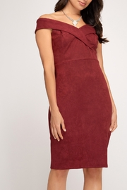 She + Sky Classic Midi Dress - Front cropped