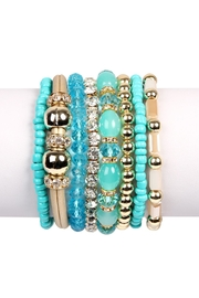 Riah Fashion Classic-Multi-Bead Bracelet Set - Front cropped