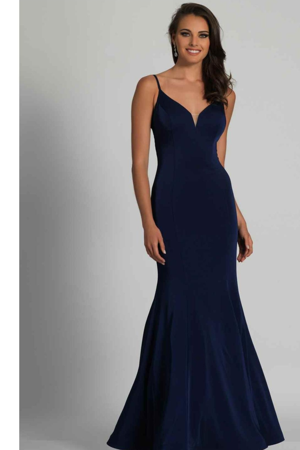 Dave and Johnny Classic Navy Gown - Main Image