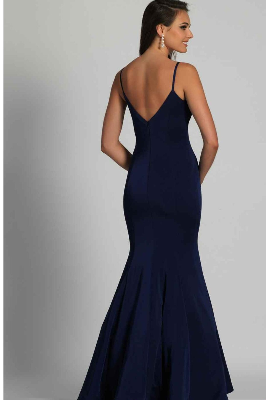 Dave and Johnny Classic Navy Gown - Front Full Image
