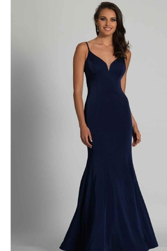 Dave and Johnny Classic Navy Gown - Product List Image