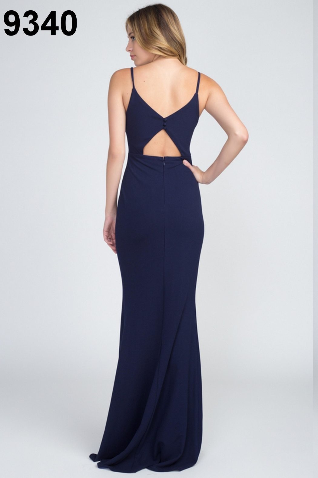 Minuet Classic Navy Gown - Front Full Image