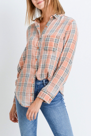 Paper Crane Classic Plaid Shirt - Front full body