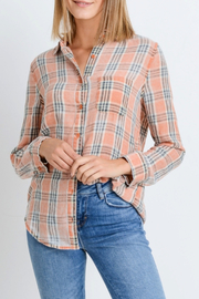 Paper Crane Classic Plaid Shirt - Front cropped