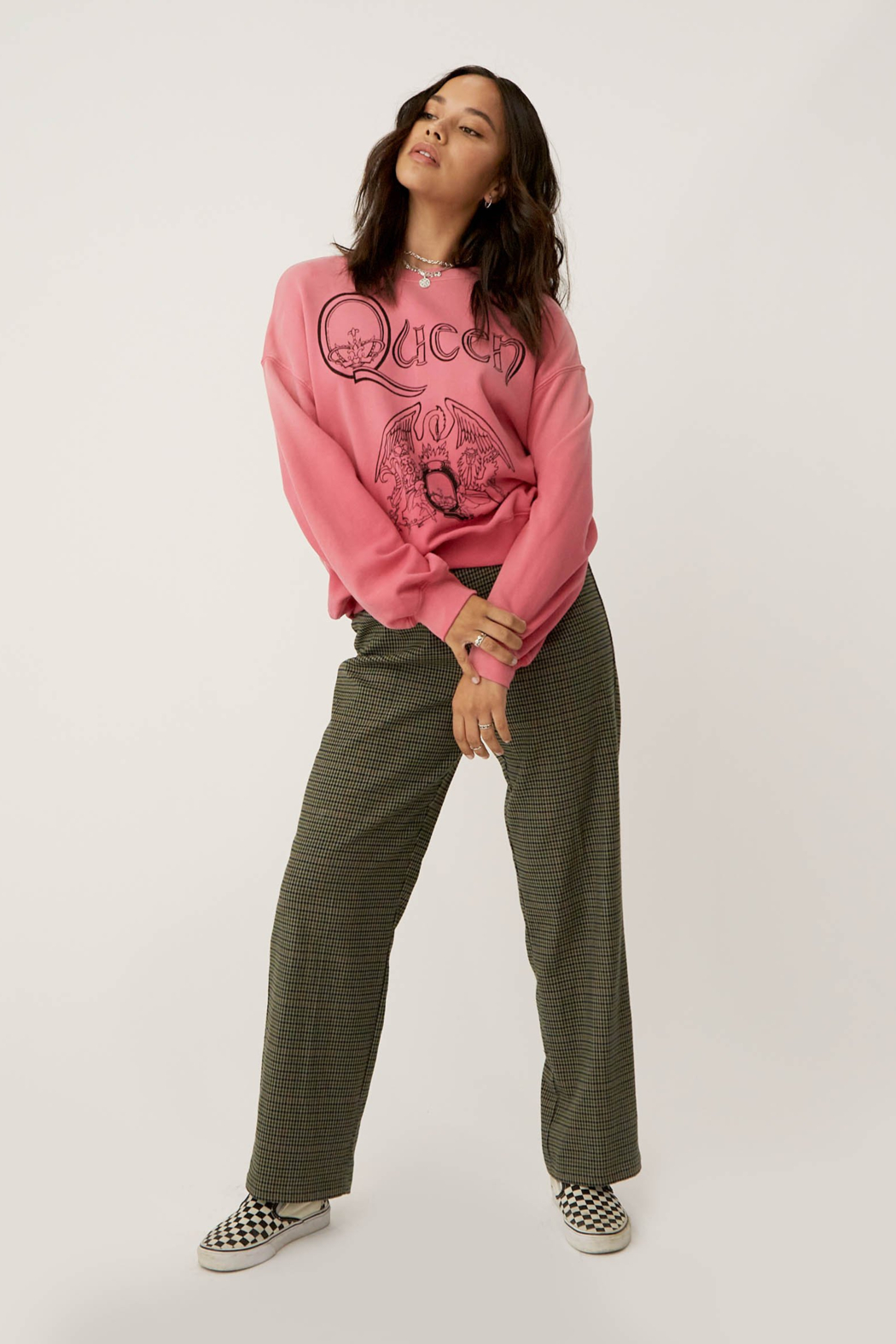 Daydreamer  Classic Queen Crest Sweatshirt - Side Cropped Image