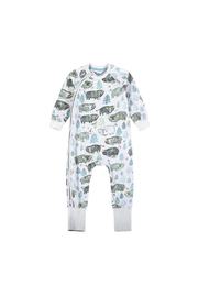 Paper Wings Classic Raglan Romper Bison - Front cropped