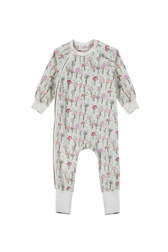 Paper Wings Classic Raglan Romper Mushrooms - Product List Image