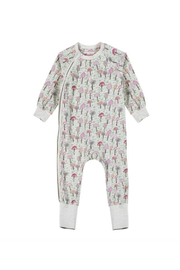 Paper Wings Classic Raglan Romper Mushrooms - Front cropped
