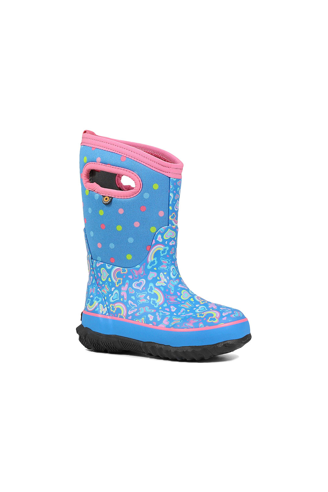 bogs  Classic Rainbow Kids Insulated Boots - Front Full Image