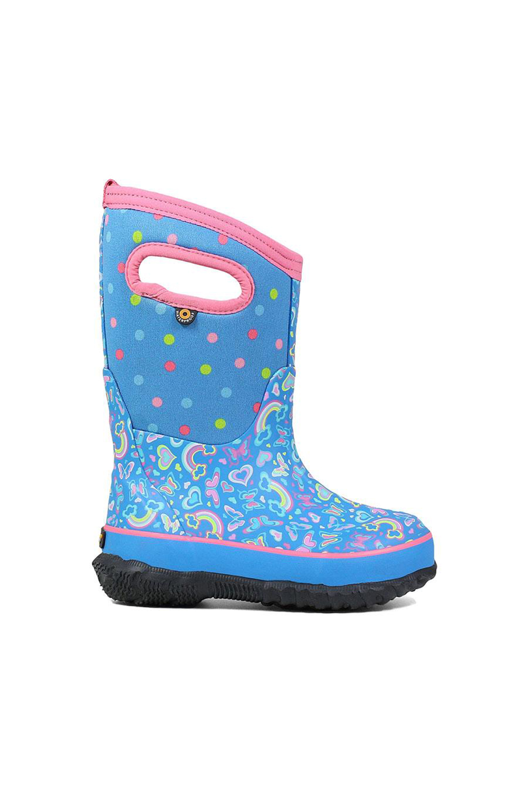 bogs  Classic Rainbow Kids Insulated Boots - Front Cropped Image