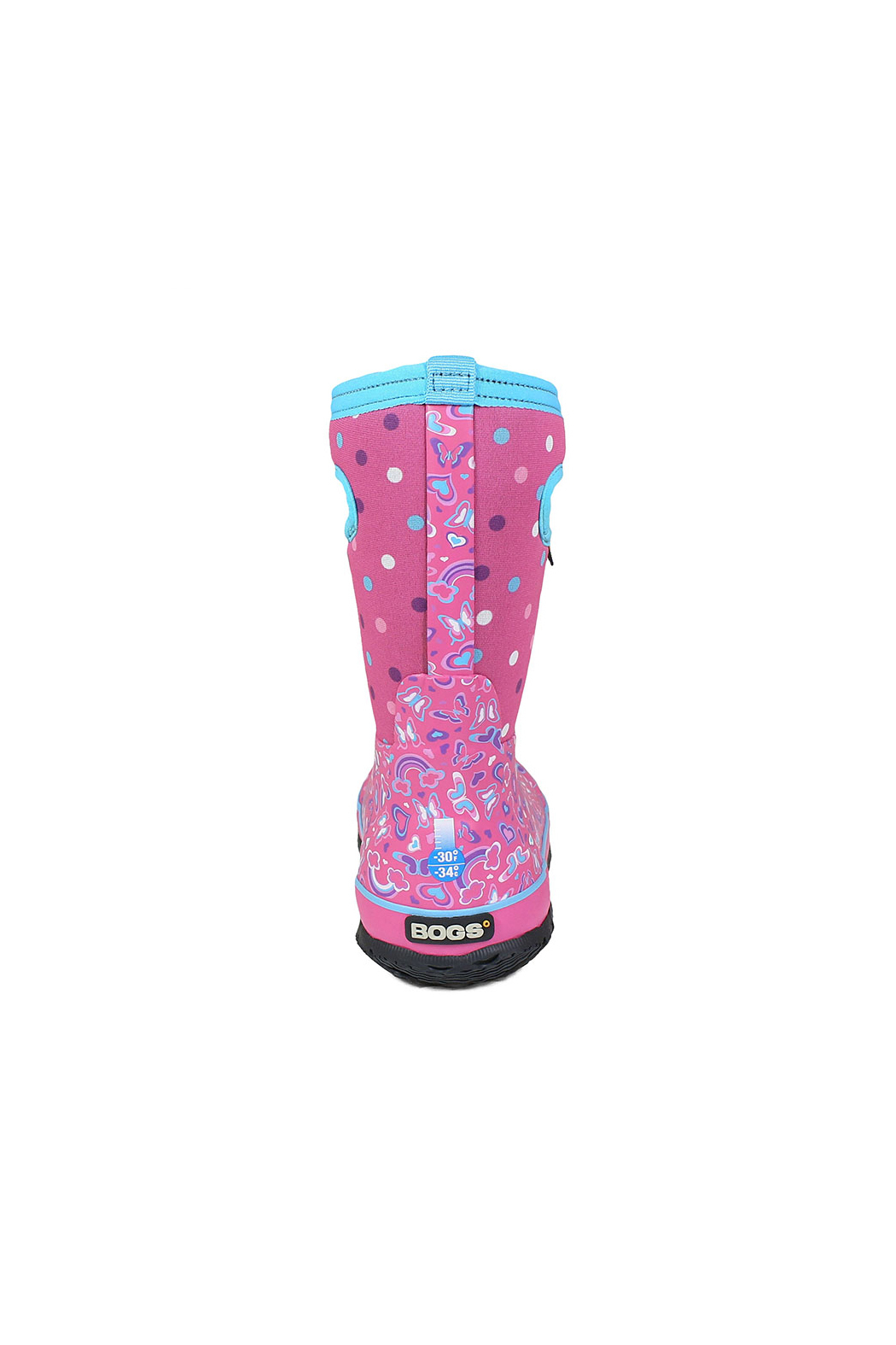 bogs  Classic Rainbow Kids Insulated Boots - Back Cropped Image