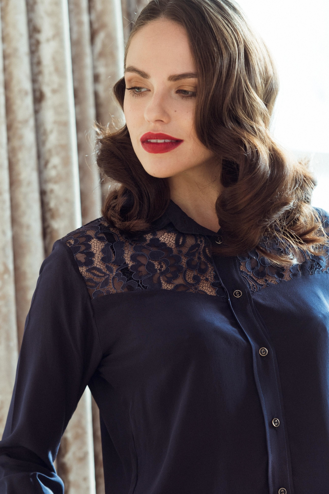 Sophie Cameron Davies Classic Silk Shirt - Front Full Image