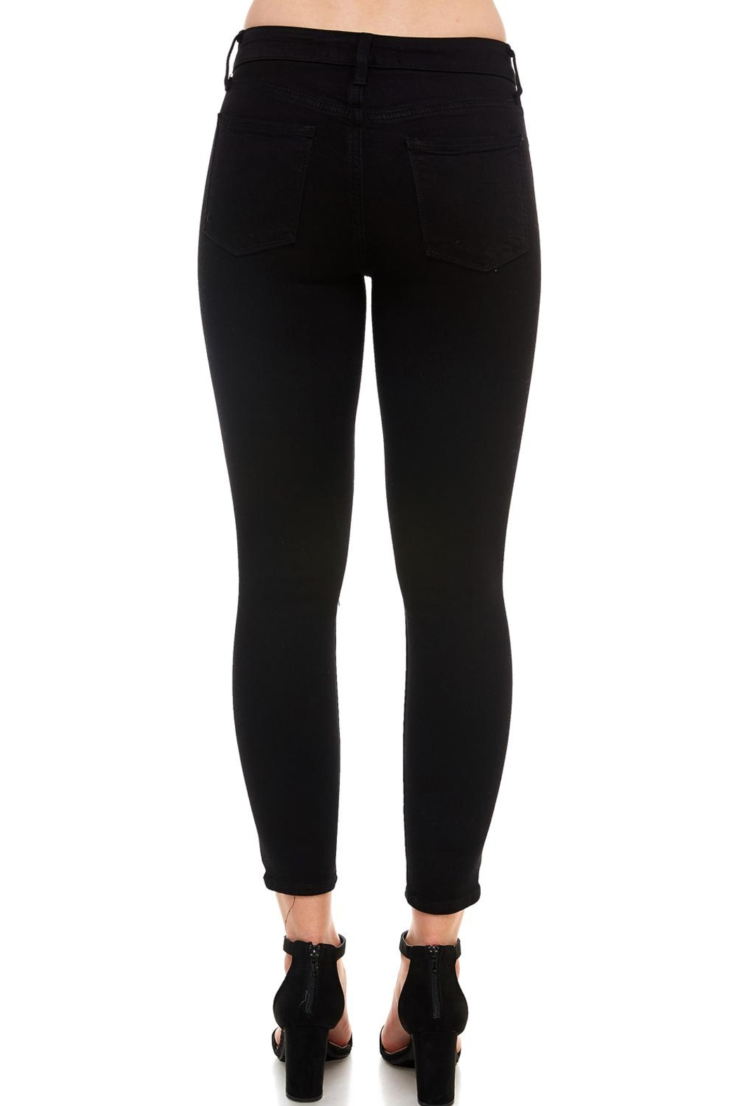 just black Classic Skinny Jean - Side Cropped Image