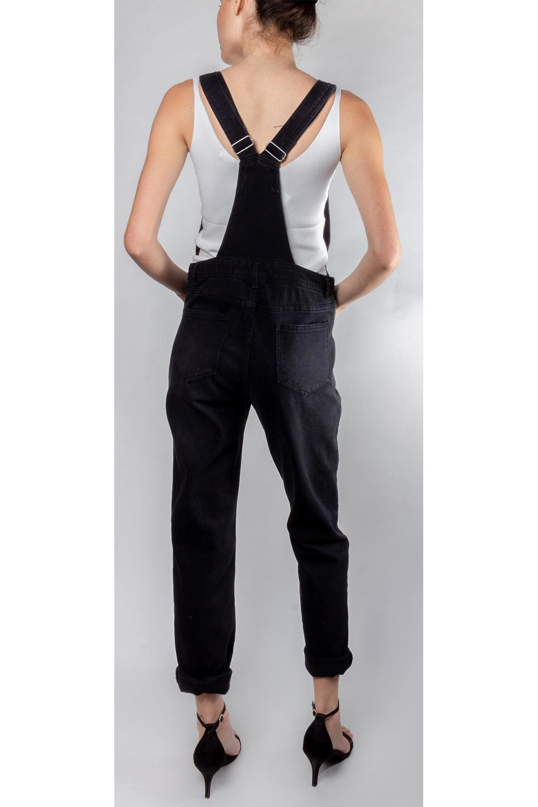 Love Tree Classic Slim-Leg Overalls - Side Cropped Image