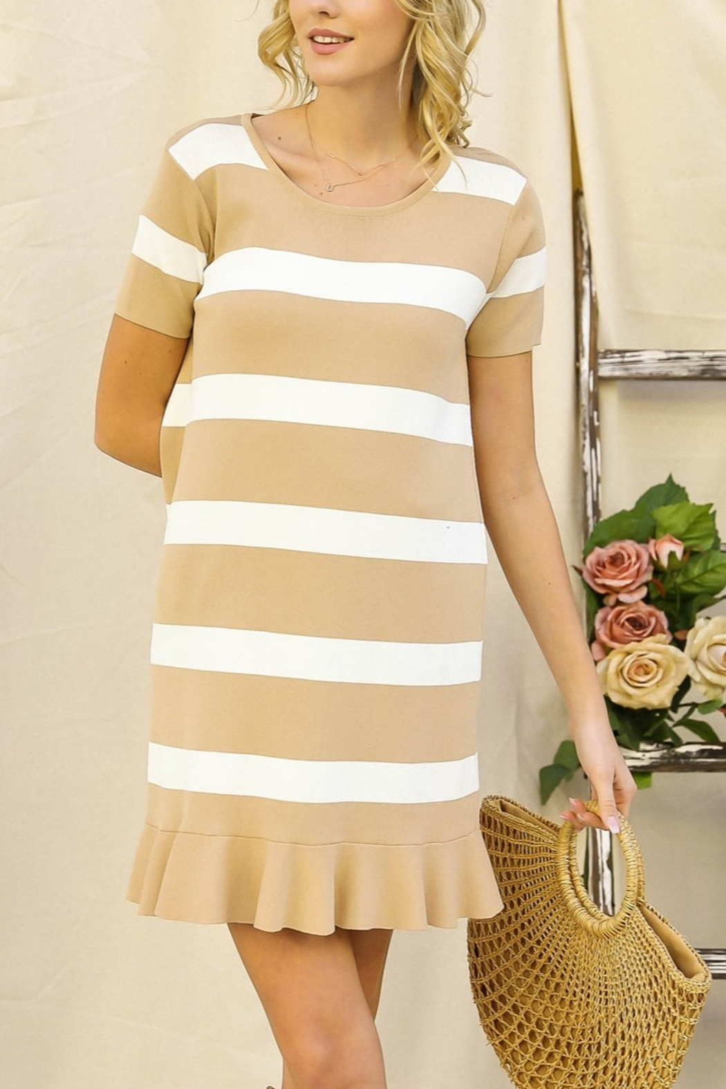 Lyn -Maree's Classic Stripe Nautical Dress - Front Cropped Image