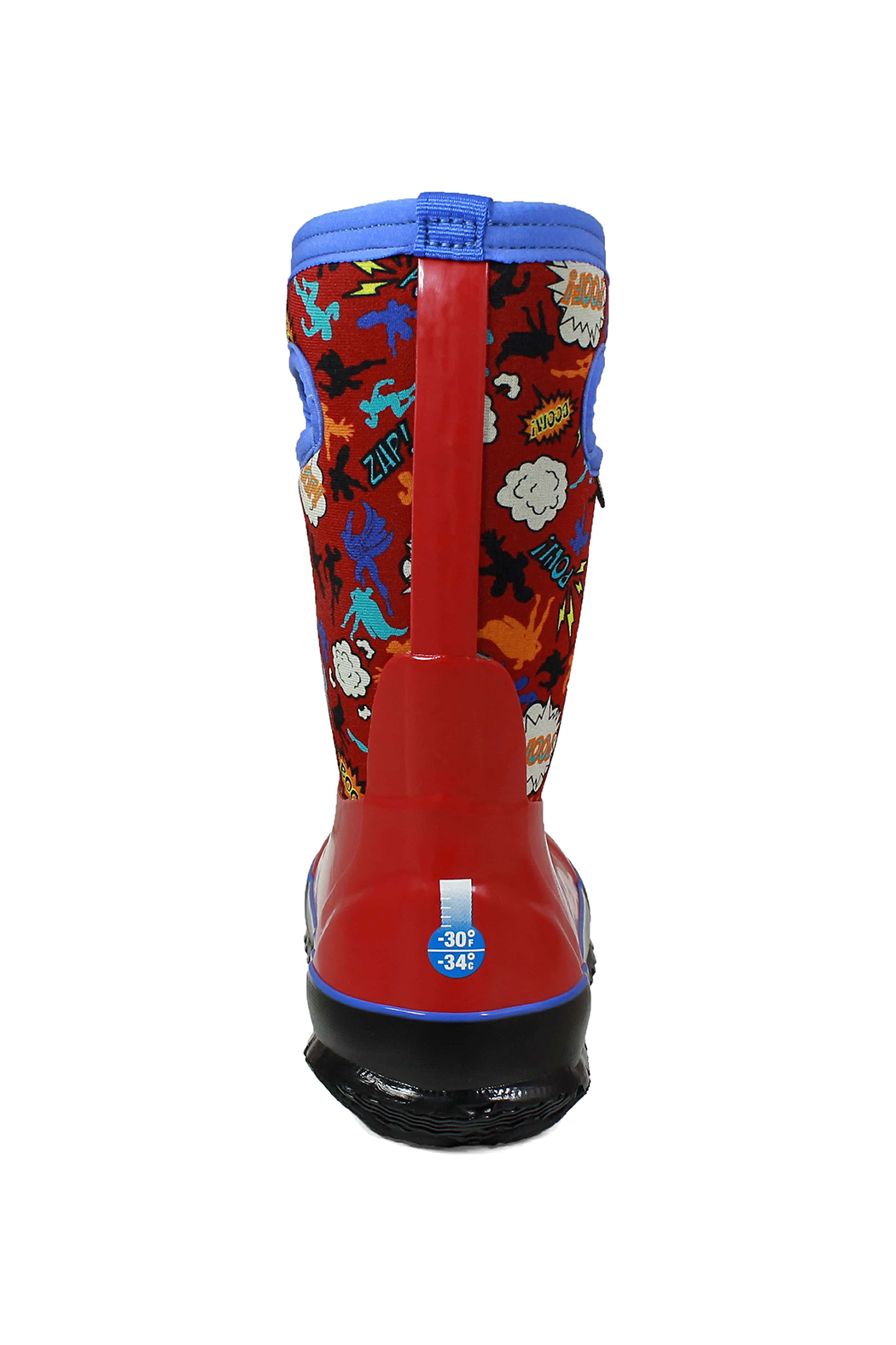 BOGS Classic Super Hero Kids Insulated Boots - Back Cropped Image