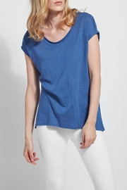 Lyssé Classic Tee with high low hem - Product Mini Image
