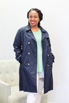 She and Sky Classic Trench Belted Jacket - Alternate List Image