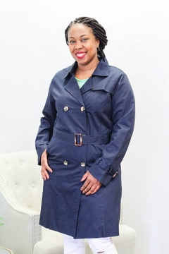 She and Sky Classic Trench Belted Jacket - Product List Image