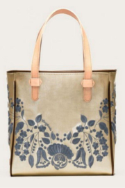 The Birds Nest CLASSIC VALENTINA TOTE-CHAMPAGNE - Product Mini Image