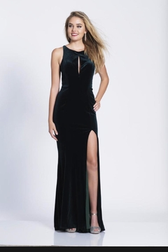 Dave and Johnny Classic Velvet Gown - Product List Image