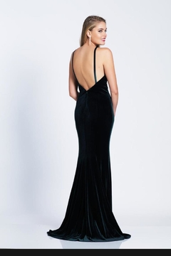 Dave and Johnny Classic Velvet Gown - Alternate List Image